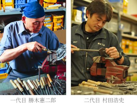 三国箪笥・舟箪笥の作業風景